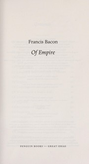 Cover of: Of empire | Francis Bacon