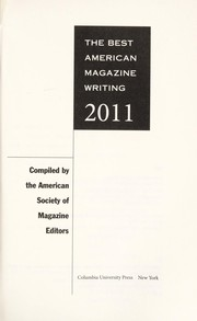Cover of: The best American magazine writing 2011