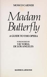 Cover of: Madam Butterfly