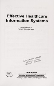 Cover of: Effective healthcare information systems |