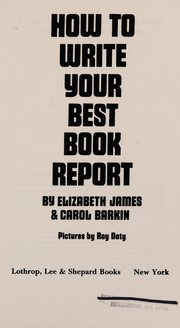How to write your best book report