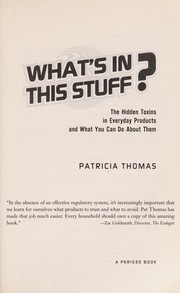 Cover of: What's in this stuff?