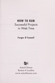 Cover of: How to run successful projects in Web time