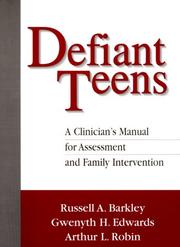 Cover of: Defiant teens