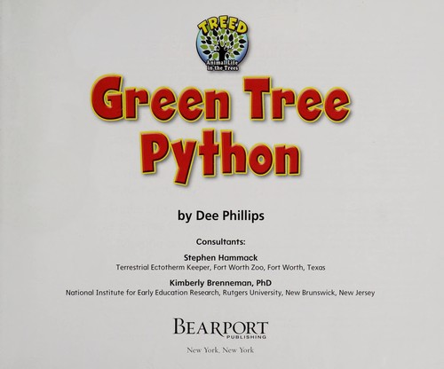 Green tree python by Dee Phillips