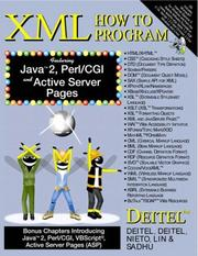 Cover of: XML How to Program (1st Edition) | Harvey M. Deitel