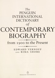 Cover of: The Penguin international dictionary of contemporary biography | Edward Vernoff