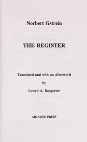 Cover of: The register