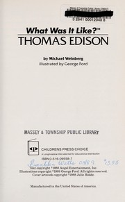 Cover of: Thomas Edison (What Was It Like?) | Michael Weinberg