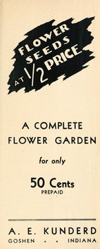 Cover of: Flower seeds at 1/2 price | A.E. Kunderd, Inc