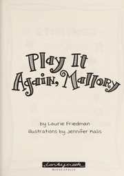 Cover of: Play it again, Mallory