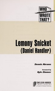 Cover of: Lemony Snicket (Daniel Handler)