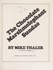 Cover of: Chocolate Marshmelephant Sundae