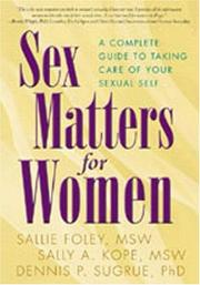 Cover of: Sex Matters for Women | Sallie Foley