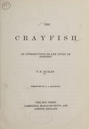 Cover of: The crayfish | Thomas Henry Huxley