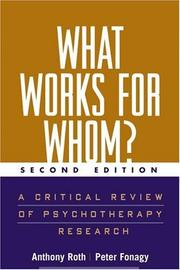 Cover of: What Works for Whom?, Second Edition | Anthony Roth