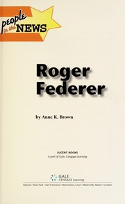 Cover of: Roger Federer | Anne K. Brown