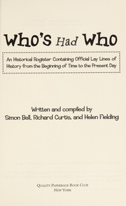Cover of: Who's Had Who |