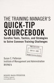 Cover of: The training manager's quick-tip sourcebook | Susan C. Patterson