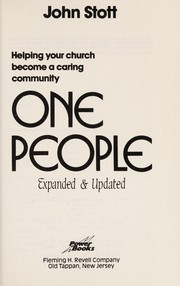 Cover of: One people