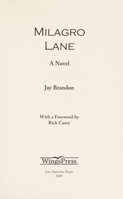 Cover of: Milagro Lane: a novel