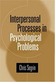 Cover of: Interpersonal Processes in Psychological Problems