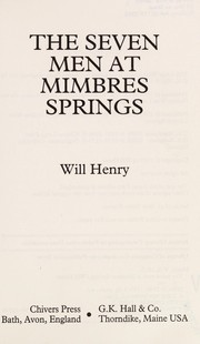 Cover of: The seven men at Mimbres Springs