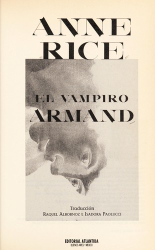 El vampiro Armand by Anne Rice