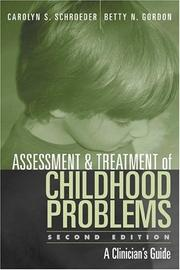Cover of: Assessment and treatment of childhood problems by