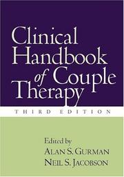 Cover of: Clinical Handbook of Couple Therapy, Third Edition |