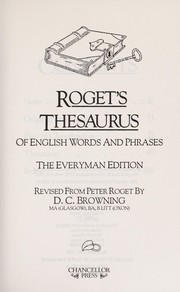 Cover of: Roget's thesaurus of English words and phrases