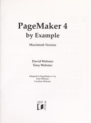 Cover of: PageMaker 4 by example | Webster, David