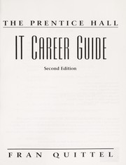 Cover of: The Prentice Hall IT career guide | Frances Quittel