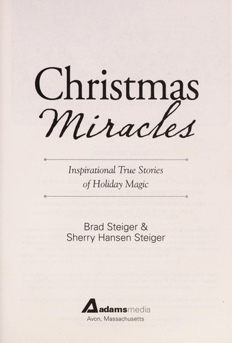 Christmas miracles by Brad Steiger