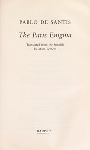Cover of: The Paris enigma