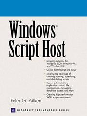 Cover of: Windows script host