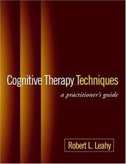 Cover of: Cognitive Therapy Techniques