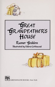 Cover of: Great Grandfather's house