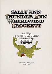 Cover of: Sally Ann Thunder Ann Whirlwind Crockett