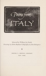 Cover of: Poems from Italy