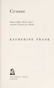 Cover of: Crusoe | Katherine Frank
