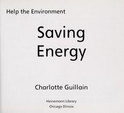 Cover of: Saving energy