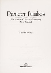 Cover of: Pioneer families