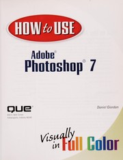 Cover of: How to use Adobe Photoshop 7