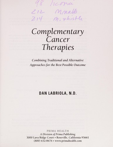 Complementary cancer therapies by Dan Labriola