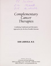 Cover of: Complementary cancer therapies | Dan Labriola