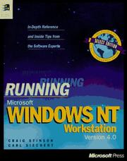 Cover of: Running Microsoft Windows NT Workstation, version 4.0