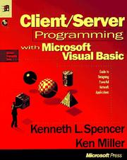 Client/server programming with Microsoft Visual Basic