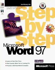 Cover of: Microsoft Word 97 step by step | Catapult, Inc