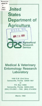 Cover of: Medical & Veterinary Entomology Research Laboratory | Medical & Veterinary Entomology Research Laboratory (U.S.)